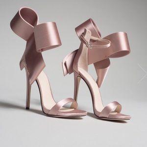 Shoes - Aminah Abdul Jillil open toed bow sandal heel